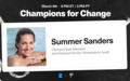 Champions for Change: Summer Sanders