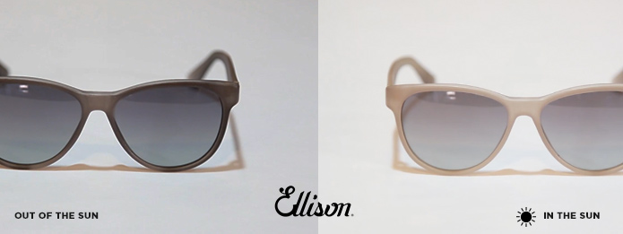Some Ellison models feature thermic effect: changing colors in the sun!
