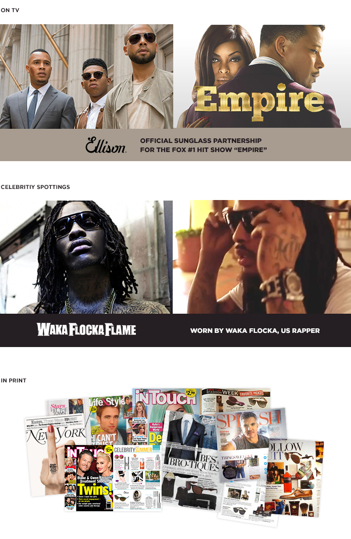 Ellison featured in the FOX show Empire, by rapper WakaFlockaFlame and more
