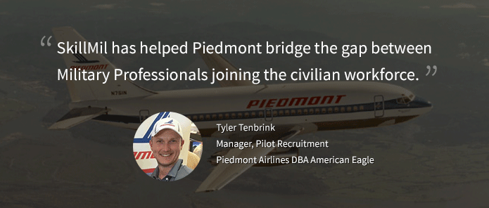 A quote about SkillMil by Piedmont aviation