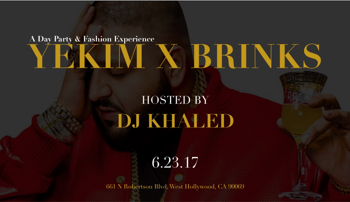 YeKim x Angel Brinks event hosted by DJ Khaled