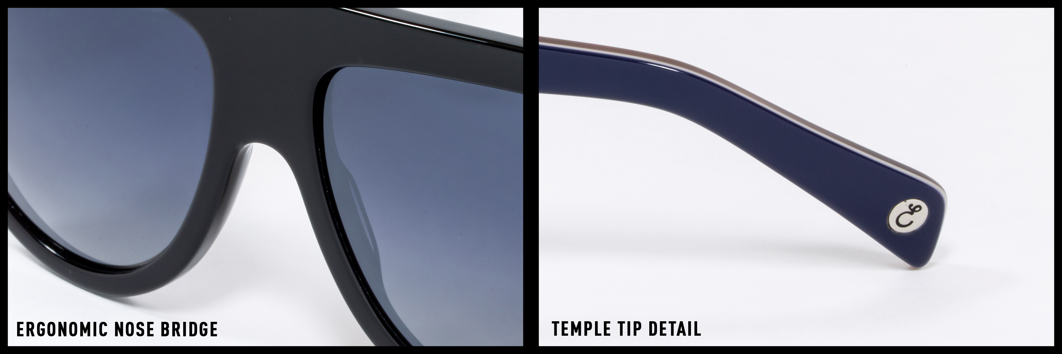 13f6261f8b4 Pins in the frame and temples of our sunglasses provide structural  integrity
