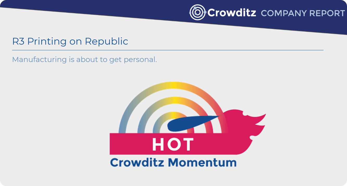 R3 Printing on Crowditz: Momentum is HOT! 🔥